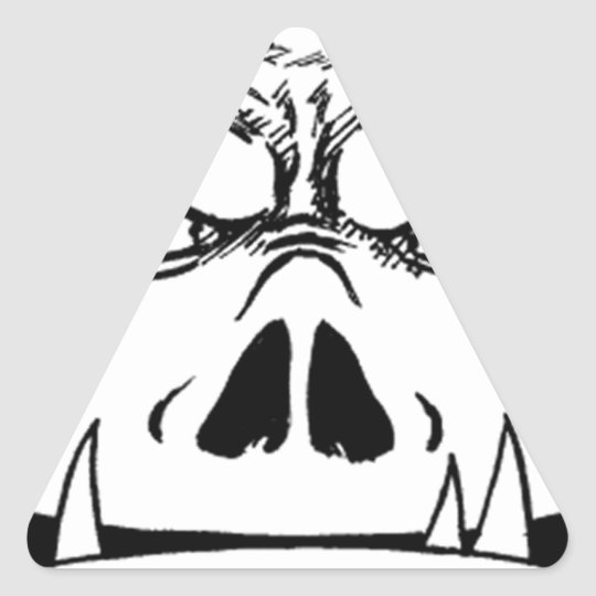 Rubbernorc Face Triangle Sticker