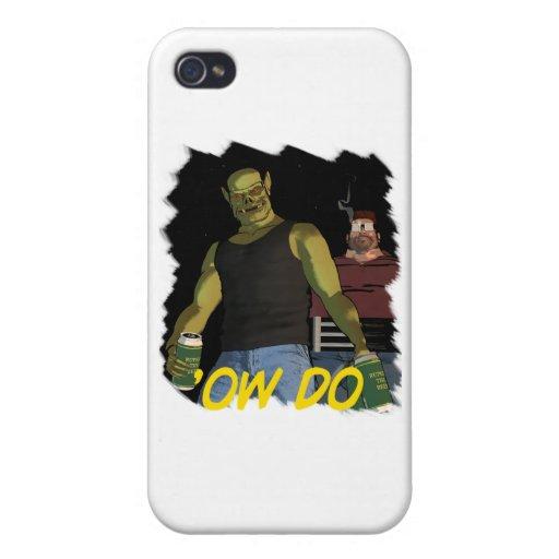 """Rubbernorc """"Ow hace"""" con Nogl y Chubb iPhone 4 Protectores"""