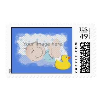 Rubbery ducky stamp