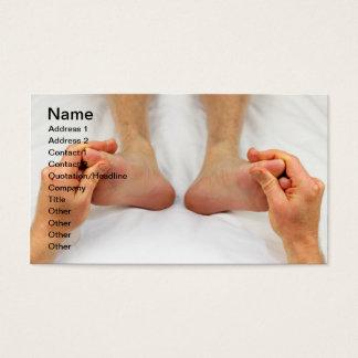 Rubbing Feet Up Business Card