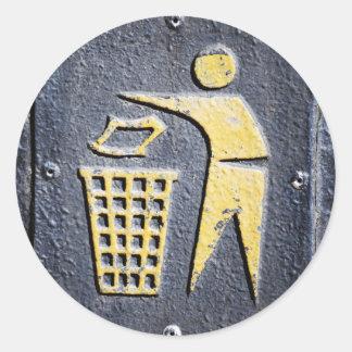 Rubbish Classic Round Sticker