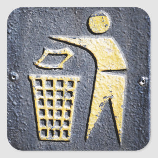Rubbish Square Sticker