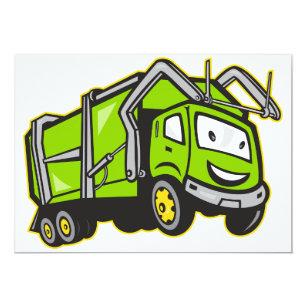 green truck invitations zazzle