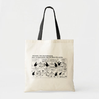 Rube Goldberg Watchmaker comic strip Tote Bag