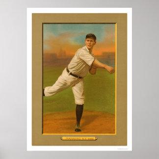 Rube que sirve el béisbol 1911 de los yanquis posters