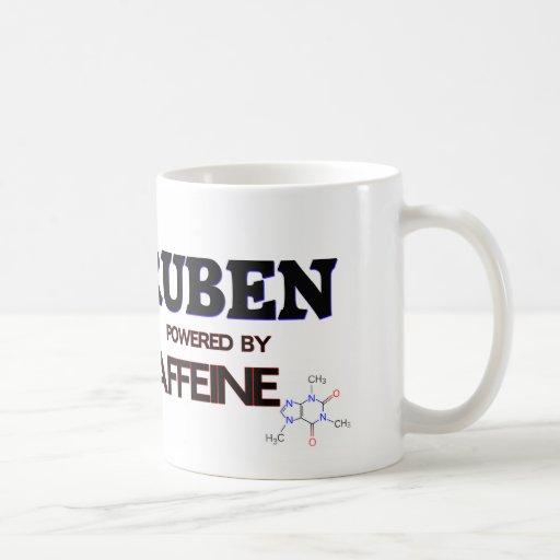 Ruben accionó por el cafeína taza básica blanca