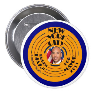 Ruben Díaz, alcalde 2013 del Jr. NYC Pin Redondo De 3 Pulgadas