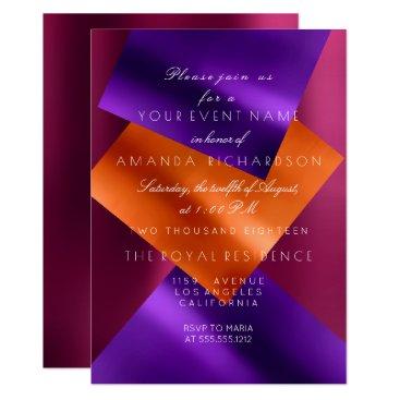 Beach Themed Ruben Purple Coral Amethyst Metallic Geometry Eben Card