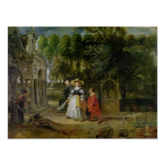 Rubens and Helene Fourment  in the Garden Poster