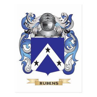 Rubens Coat of Arms (Family Crest) Postcard