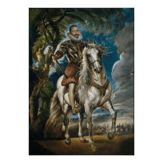 Rubens painting: The Duke of Lerma (no border) Posters