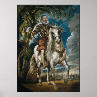 Rubens painting: The Duke of Lerma (no border) Poster