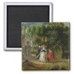 Rubens y Elena Fourment en el jardín Imán Cuadrado