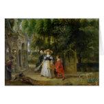 Rubens y Elena Fourment en el jardín Tarjeta De Felicitación