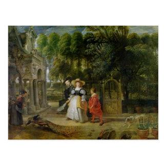 Rubens y Elena Fourment en el jardín Postal