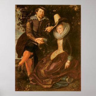 Rubens y Isabel Barnacla debajo de una madreselva, Posters