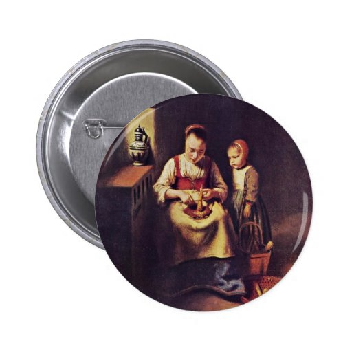 Rübenschälerin de Maes Nicolaes (la mejor calidad) Pins