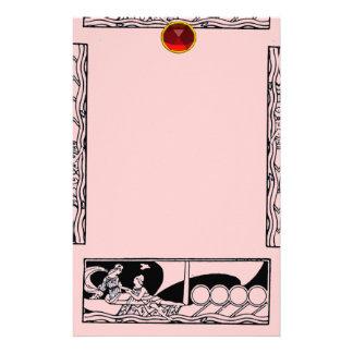 RUBÍ ANTIGUO del AMOR, rosado Personalized Stationery