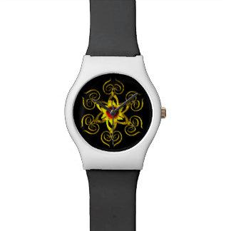 RUBÍ COLOR DE ROSA DE ORO, blanco Reloj