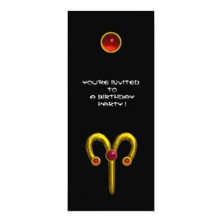 RUBÍ del ARIES, rojo negro amarillo brillante Anuncios