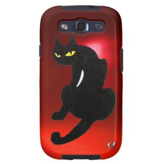 Rubí del CAT NEGRO Galaxy SIII Protectores