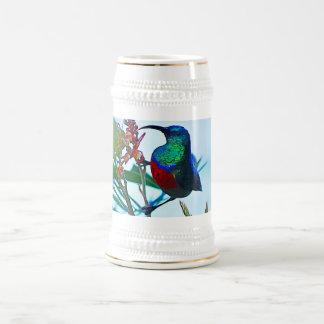 Rubí del colibrí throated jarra de cerveza