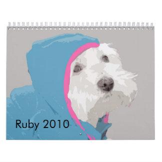 Rubí el calendario de Westie 2010