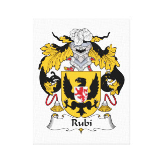 Rubi Family Crest Canvas Print