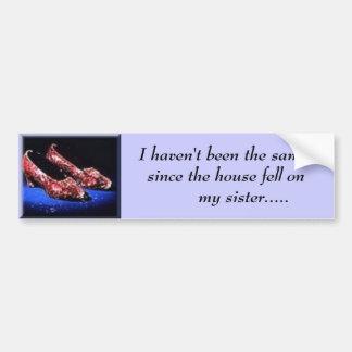 rubí, no he sido igual desde la casa… etiqueta de parachoque