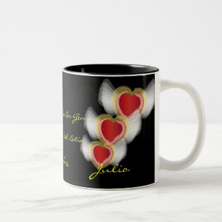 """Rubi Para Julio"" Mug- Customized Two-Tone Coffee Mug"