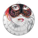Rubí veneciano del chica de la máscara tablero de dardos