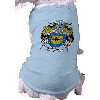 Rubiales Family Crest Dog T Shirt