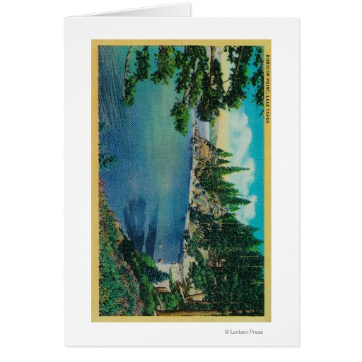 Rubicon Point ViewLake Tahoe, CA Greeting Card