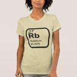 Rubidio - diseño de la ciencia de la tabla periódi camiseta