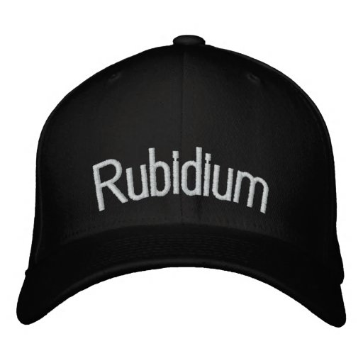 Rubidium Embroidered Baseball Hat