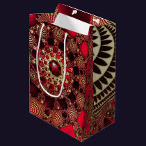 Rubies and Gold Gift Bag
