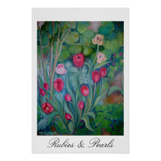 Rubies and Pearls Poster