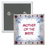 Rubies Art Deco Wedding Pin