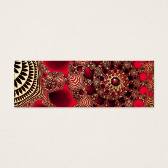 Rubies & Gold Bookmarks Mini Business Card