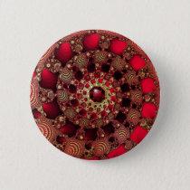 Rubies & Gold Button