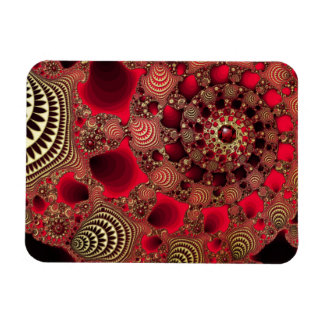 Rubies & Gold Flexible Rectangle Magnet
