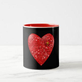 Rubies heart Valentine's Day mug