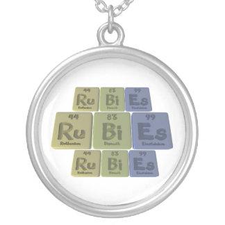 Rubies-Ru-Bi-Es-Ruthenium-Bismuth-Einsteinium.png Round Pendant Necklace