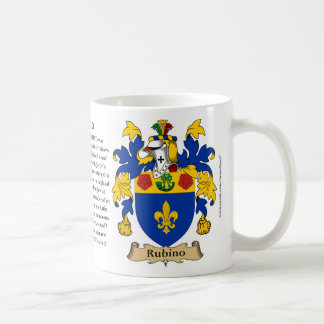 Rubino, the Origin, the Meaning and the Crest Coffee Mug