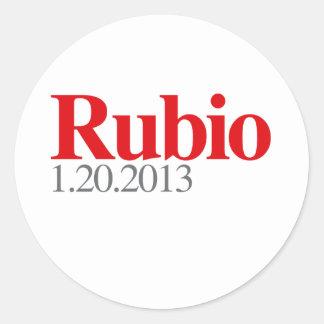 RUBIO 1-20-2013 CLASSIC ROUND STICKER