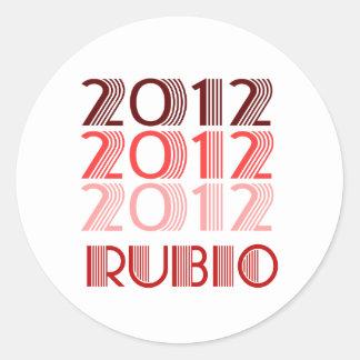 RUBIO 2012 VINTAGE CLASSIC ROUND STICKER