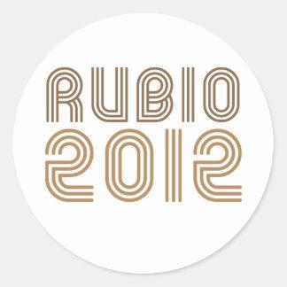 RUBIO 2012 (Vintage) Classic Round Sticker