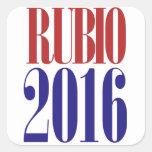 Rubio 2016 calcomanía cuadradase