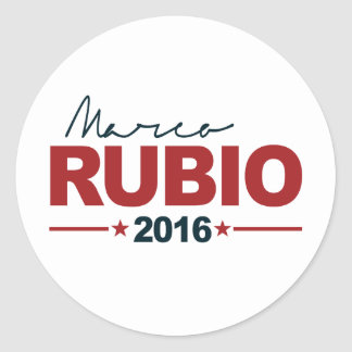 RUBIO 2016 CAMPAIGN SIGN -.png Round Sticker