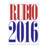 Rubio 2016 invitación